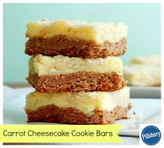 Carrot Cheesecake Cookie Bars are perfect for spring celebrations! With spring in full swing, carrot cake is one of the first recipes you want to make. Sometimes, however, we need this treat in a quick and easy bar that's simple to pick up and enjoy on the go or make with the family. This recipe is certainly that! Follow these easy steps to perfect this yummy bar.