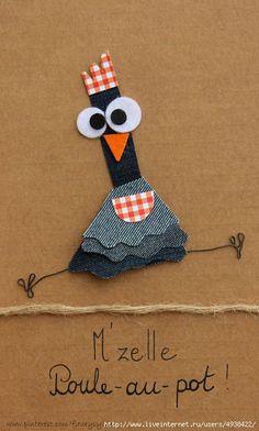 The collec '- toutpetitrien site! Jean Crafts, Diy And Crafts, Crafts For Kids, Paper Crafts, Artisanats Denim, Denim Art, Arte Punch, Punch Art, Denim Scraps