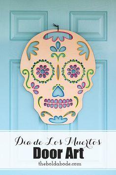 DecoArt Blog - Crafts - Dia de Los Muertos Door Hanger
