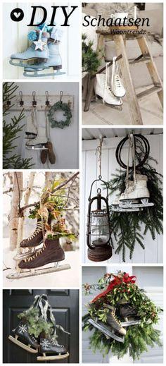 Christmas decoration with iceskates