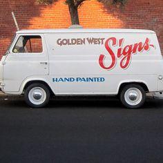 Golden West Signs van, Mission by JJ San, via Flickr