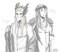 They insist on wearing the whole forest on their crowns. Oropher and Thranduil