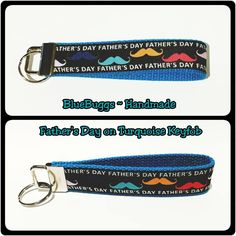 Fathers Day Turquoise Keyfob