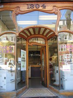 lovely art nouveau storefront | cambridge, ma