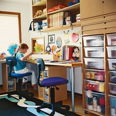 I already have a few open shelves, but would love more cubbies for all the girls crafts they have made.