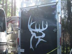 Luke Bryan's Buck Commander logo on his trailer :)