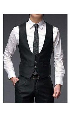 Black U Neck Vest - Apostolic Clothing. Definitely my hubby with his new Clark Kent glasses:)
