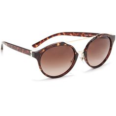 Tory Burch Round Aviator Sunglasses ($250) ❤ liked on Polyvore featuring accessories, eyewear, sunglasses, round sunglasses, round aviator sunglasses, adjustable glasses, nose pads glasses and round sunnies