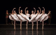 "This is as close to perfect as can get. Far left slightly off, but impressive still. Paris Opéra Ballet School dancers in ""La Nuit de Walpurgis"" for the Tricentenary Gala. Ballet Art, Ballet Dancers, Dance Photos, Dance Pictures, Ballet Performances, Ballet Pictures, Paris Opera Ballet, Svetlana Zakharova, Ballet School"