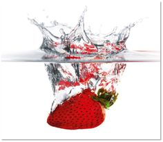 x Glass Peel & Stick Splash Guard Panelling Eurographics Deco Glass, Splashback Tiles, Smart Tiles, Strawberry, Modern, Ebay, Panelling, Products, Strawberry Fruit