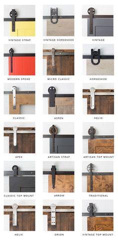 DIY Furniture Plans & Tutorials : Artisan Hardware // Sliding Barn Doors // Barn Door Hardware - March 03 2019 at Barn Door Designs, White Barn, White Wood, The Doors, Entry Doors, Wood Doors, Wood Barn Door, Porch Doors, Types Of Doors