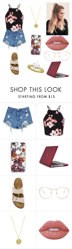 """Sem título #2218"" by mahceinha ❤ liked on Polyvore featuring Boohoo, Casetify, Speck, Birkenstock, Glance Eyewear, David Yurman and Lime Crime"