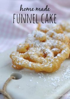 Home Made Funnel Cakes -bring the carnival home with this easy, inexpensive recipe sure to impress guests.