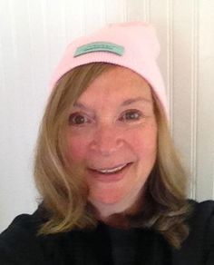 Wear pink for October - our beanies are available in Pink, White, Black & Royal $9 + free shipping - etsy.com/shop/RunningWithWrinkles