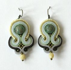 "Perfect gift for soutache lovers. Amazing Chandelier Earrings – Earrings from the collection ""Jewellery Julia"" – a unique product by victorbielizna via en.DaWanda.com #green"