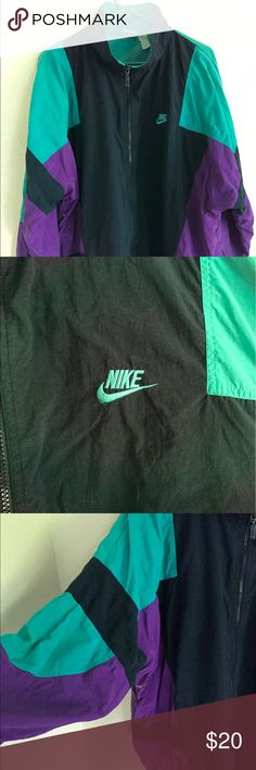 41b3a2bf0 80s 90s vintage Nike windbreaker jacket Condition  7 10 not sure if the  stains