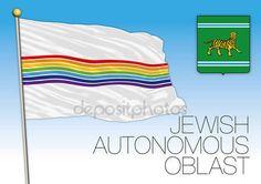 Bandiera di Oblast  autonoma ebraica, archivio di vettore, illustrazione — Vettoriali  Stock © frizio #136153350