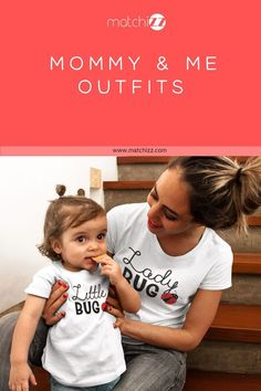 and Me Outfits Ladybug Mom Shirt Mommy and Me Outfits Ladybug Mom Shirt Great Mother Daughter set for mama and her mini me Mother Daughter Shirts, Mother Daughter Matching Outfits, Mother Daughters, Mom And Son Outfits, Baby Boy Outfits, Baby Girl Nursery Themes, Baby Bug, Funny Baby Clothes, Mini Me