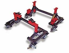 Easy-Access jack stand and car dolly system Garage Shed, Garage Tools, Garage Workshop, Dream Garage, Metal Projects, Welding Projects, Garage Organization, Garage Storage, Tool Shop