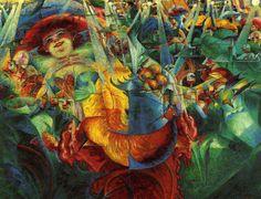 U. Boccioni, La risata, 1911