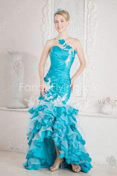 fancyflyingfox.com Offers High Quality Qualified One Shoulder Neckline Trumpet/Mermaid Quinceanera Dresses With Frills ,Priced At Only US$230.00 (Free Shipping)