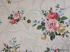 Floral Wallpaper for a Beautiful Bathroom (Hannah's Treasures ...