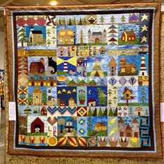 """Sandpiper Quilter: Quilting Board 2011 Houses BOM (""""Gimme Shelter"""") finished!"""