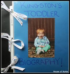 Toddler Biography - Make a toddler biography with your little one! This craft makes a great keepsake AND interactive activity for your tot. - House of Burke
