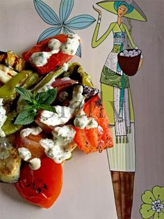 SLELLY: COLORECALORE - Verdure grigliate con salsa agrodol...