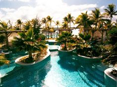 The St. Regis in Bora Bora has two pools and a private salt water lagoon.