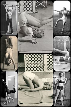 Marilyn Monroe Yoga, weight lifting and dancing. See: pinterest.com/pin/287386019944022379