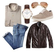 """Neutrals"" by daniel-wellington ❤ liked on Polyvore featuring Chaps, Lucky Brand, men's fashion and menswear"