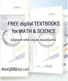 Free Math & Science Digital Textbooks and Free Online Classroom Learning for Middle School Science, School Fun, School Stuff, School Ideas, Teaching Science, Science Activities, Teaching Ideas, Homeschool Math, Homeschooling