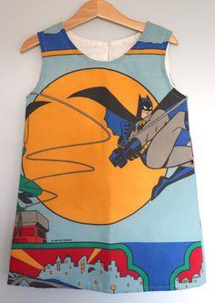 Vintage Batman fabric pinafore dress.