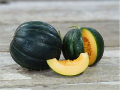 "A beautiful and rare heirloom from France, and the famous ""Black Rock"" melon preserved by the Carmelite monks."