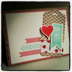 Sample card I made using sneak peak items from the new Occasions Stampin' Up! Catalog! #stampinup