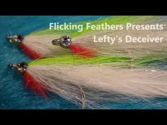 Fly Tying Lefty's Deceiver, Salt Water Baitfish Fly - YouTube