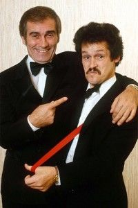 comedians Cannon and Ball from Oldham which used to be in Lancashire now in Greater Manchester but thought I'd include anyway 1970s Childhood, My Childhood Memories, British Comedy, British Actors, British History, Classic Comedies, Comedy Tv, Comedy Duos, First Tv
