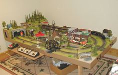 Train Table Designs | model train table many people style and build a new table to place his ...