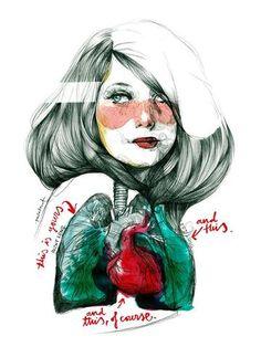 Comprar print Paula Bonet Plural inclusiu corazón pulmones bodas amor ilustración lámina