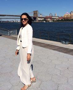 maxi dress and white #lace blazer