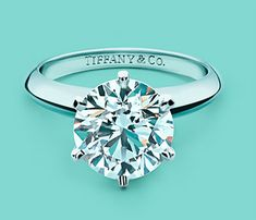Round Solitaire Diamond Engagement Ring from Tiffany and Co. Doesn't have to be big. Not even from Tiffany. Tiffany Engagement, Platinum Engagement Rings, Solitaire Engagement, Tiffany Wedding, Tiffany Und Co, Tiffany Blue, Tiffany Outlet, Tiffany Shop, Tiffany Jewelry