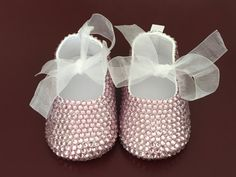 Crystal Baby Shoes Baby Ballerina Shoes by CrystalsAndDreamsAu