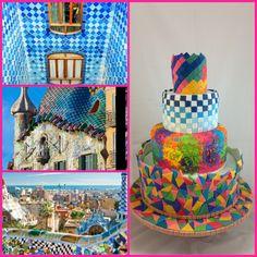 Barcelona wedding cake