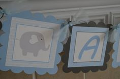 Hey, I found this really awesome Etsy listing at https://www.etsy.com/listing/182787642/elephant-baby-shower-banner-blue-and