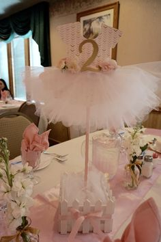 Ballerina Baby Shower Centerpiece                                                                                                                                                      More                                                                                                                                                     More