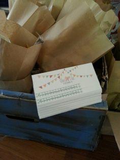 Cartulina y bolsa de chuches preparadas para montar by DPF
