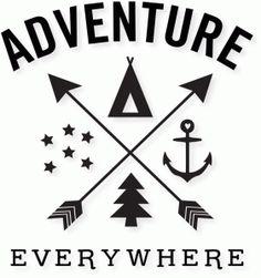 Silhouette Design Store - View Design #84967: 'adventure everywhere' word art