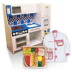 """WIN this Melissa and Doug personalized play kitchen set! A $350 value at our """"Thanks for Giving Sweepstakes!"""" Ends Nov 31st!"""