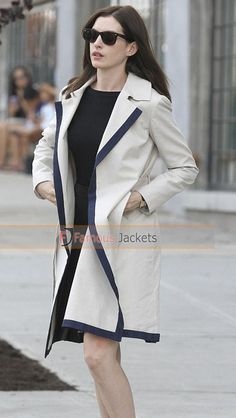 The Intern Anne Hathaway White Coat  #TheIntern #AnneHathaway